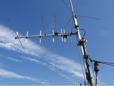 antena cross-band Yagi 144/430 MHz 4+7 elem